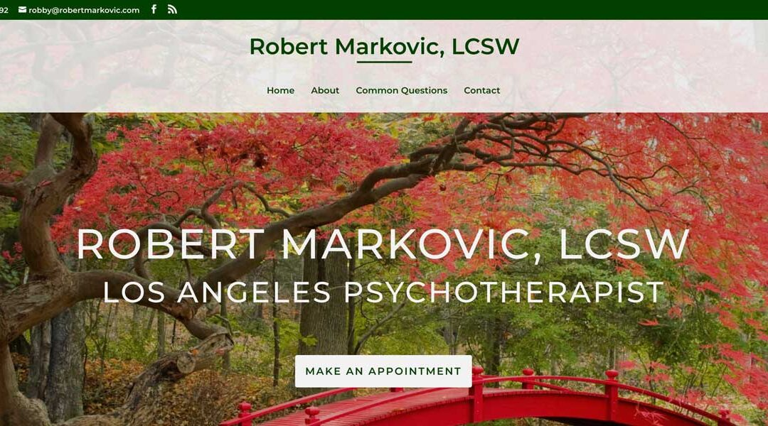 Therapy Website: Robert Markovic, LCSW