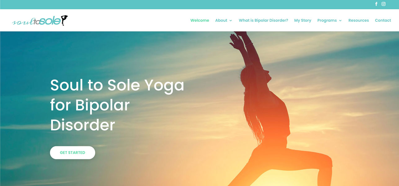 Soul to Sole Yoga for Bipolar Disorder Website