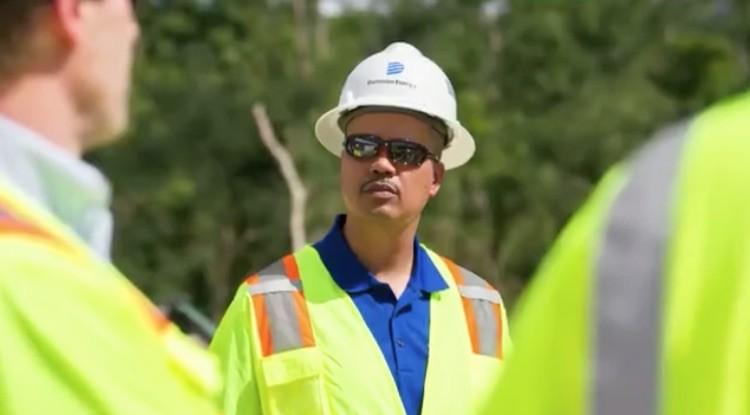 Photo of Ed Baine at work.