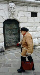 Venetian senior passes misshapen stone face