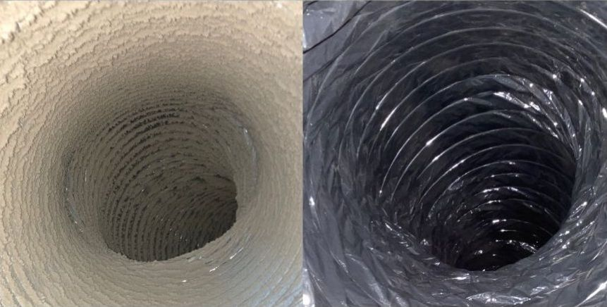 Dirty Air Duct Before And After