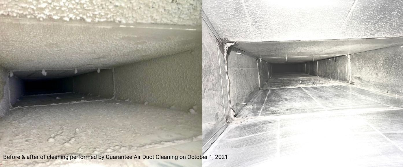 Air Duct Cleaning Vent System Before And After