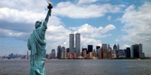 A view of the Twin Towers