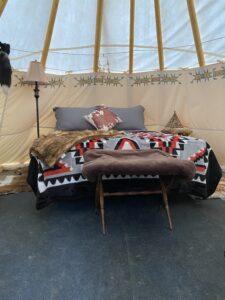 Bed in Tipi
