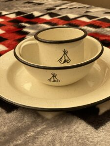 Tipi Dishes at Lost Indian Camp