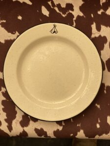 Tipi plate at Lost Indian Camp