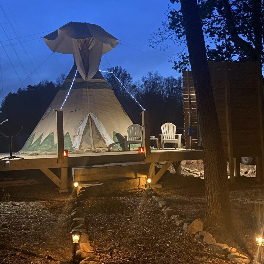 Dusk Tipi at Lost Indian Camp
