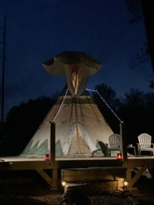 Tipi night at Lost Indian Camp