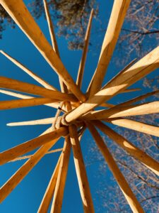 Tipi poles at Lost Indian Camp