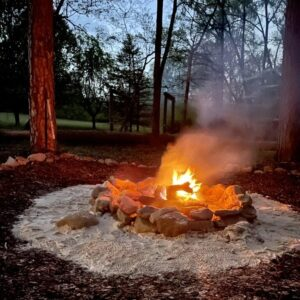 Bonfire at Lost Indian Camp