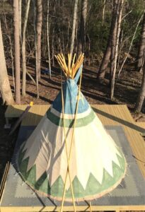 overhead Tipi at Lost Indian Camp