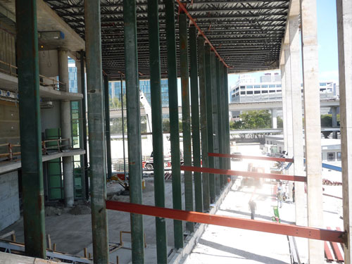 Miami Dade Children's Court - Eastern Direction view under Joist and Deck