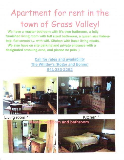 Grass Valley Rental Home