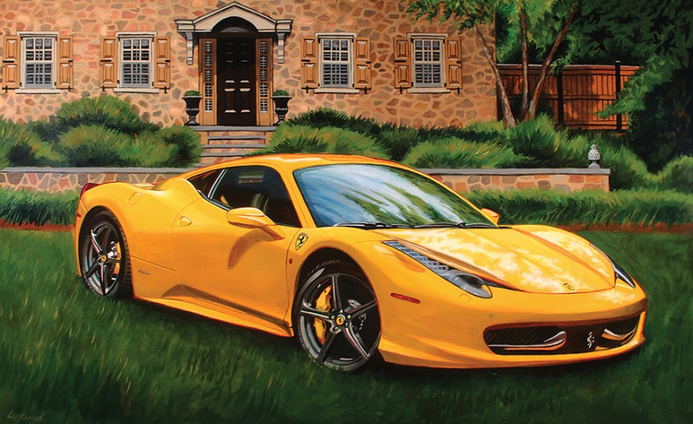 Ferrari F430  on the Lawn