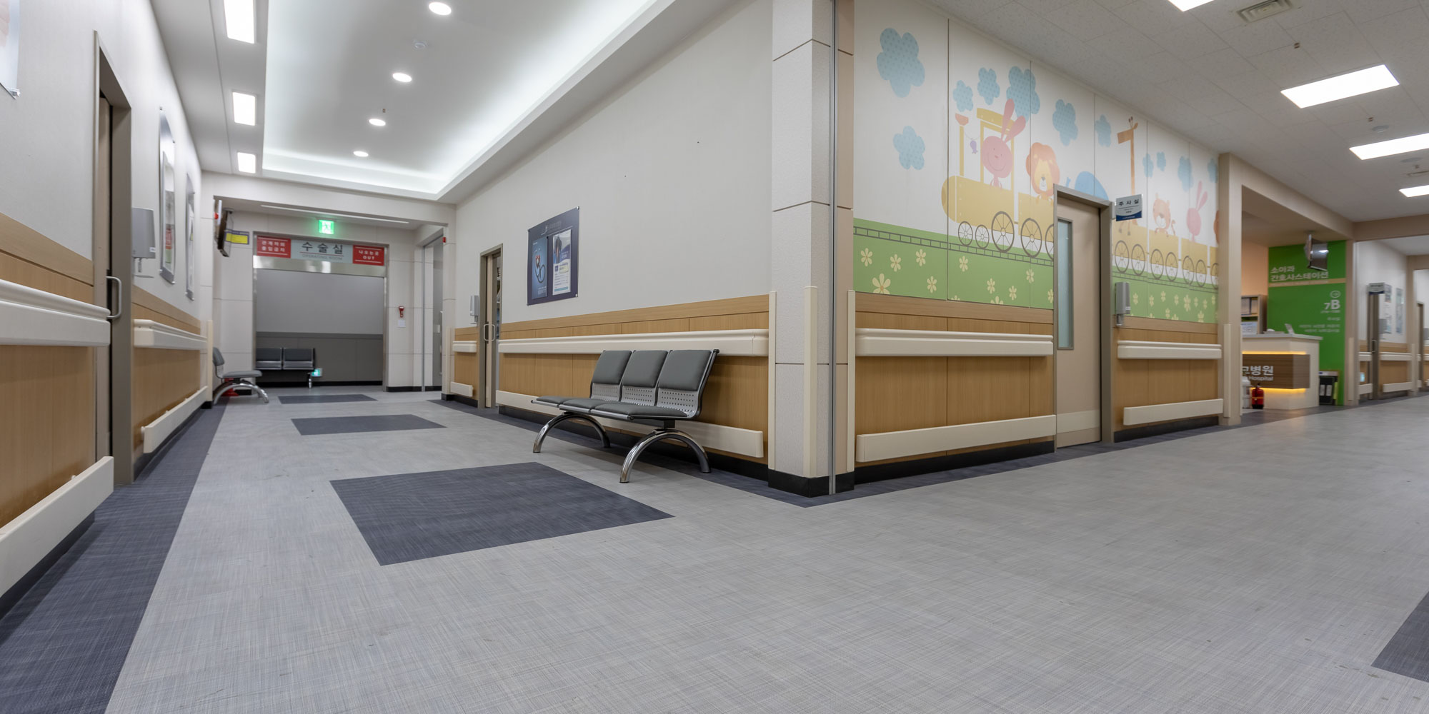 children's hospital hallway