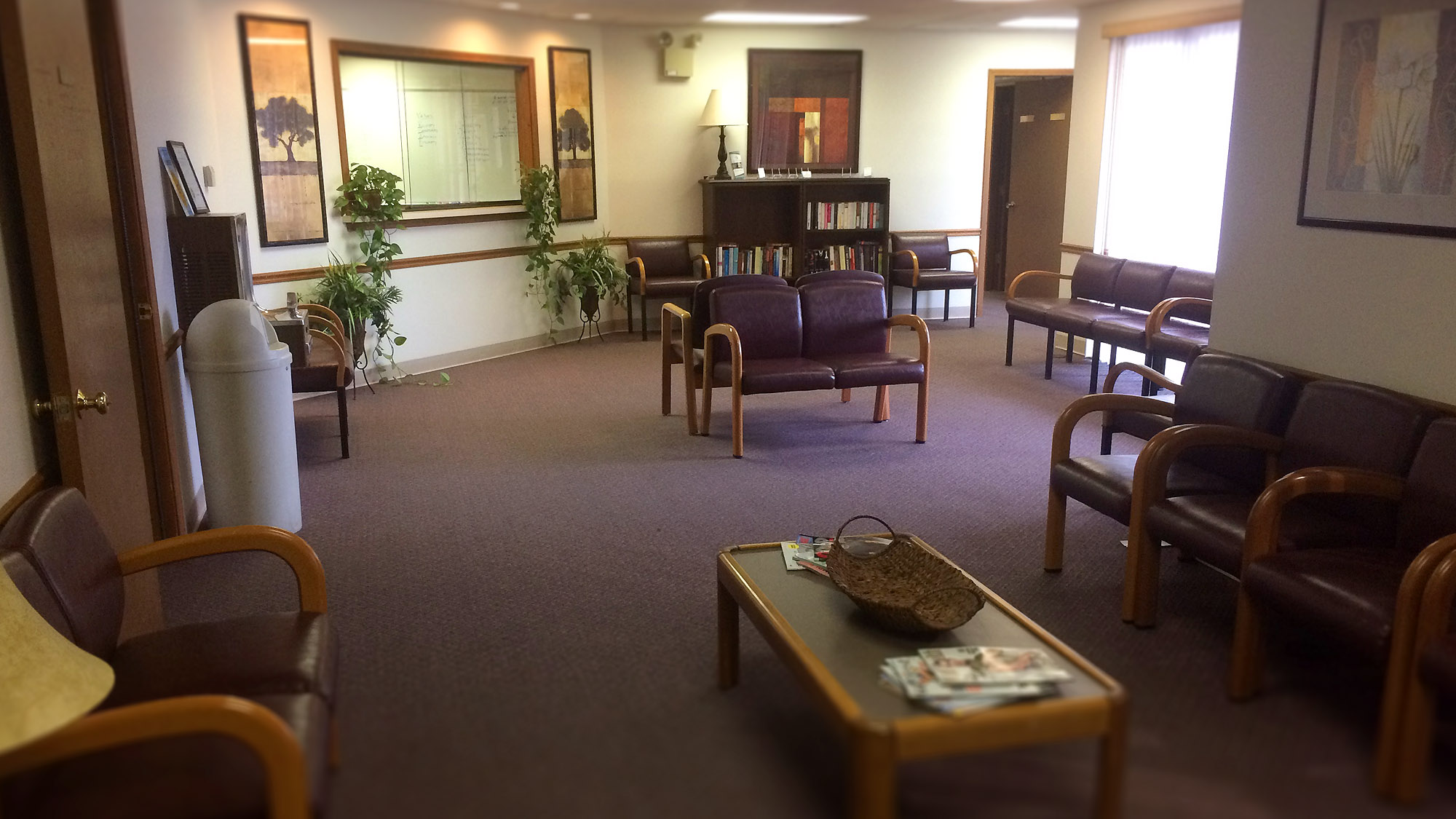 office waiting room with furniture