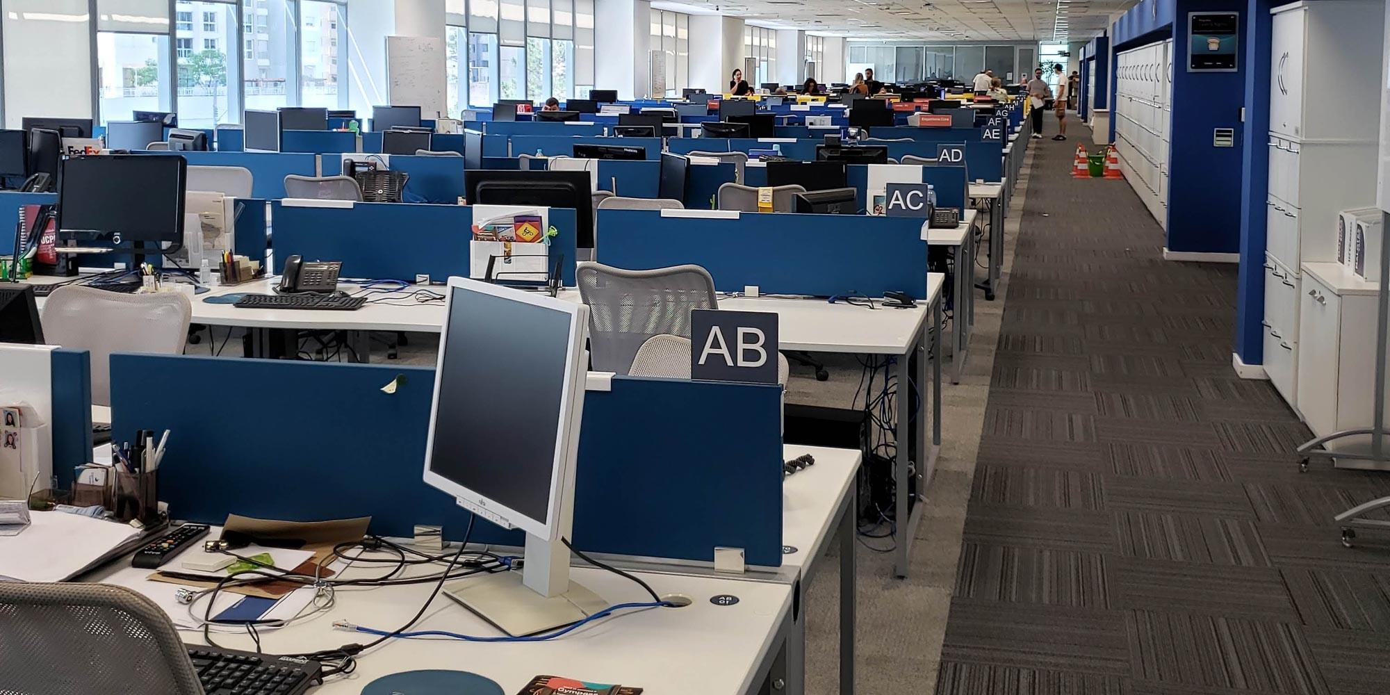computers on desks