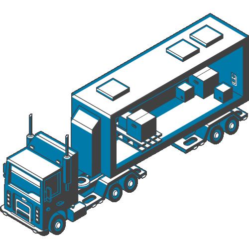 Semi Truck Blue