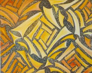 """Rose Garden"" - Oil on canvas. 30"" x 20"" x 7/8"""