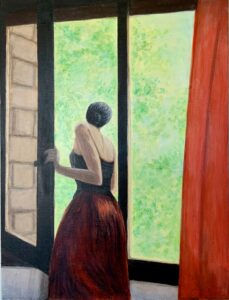"""""""Out the window"""" - Acrylic on canvas. 18""""x24""""x3/4"""""""