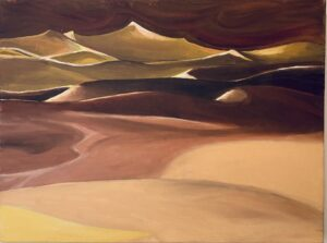 """Sand dunes"" - Oil on canvas. 16""x12""x7/8"""
