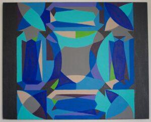 """""""Gemstone setting"""" - Acrylic on canvas. 30""""x24""""x3/4"""""""