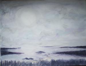 """Half Moon Bay"" - Acrylic on paper. 16""x12"""