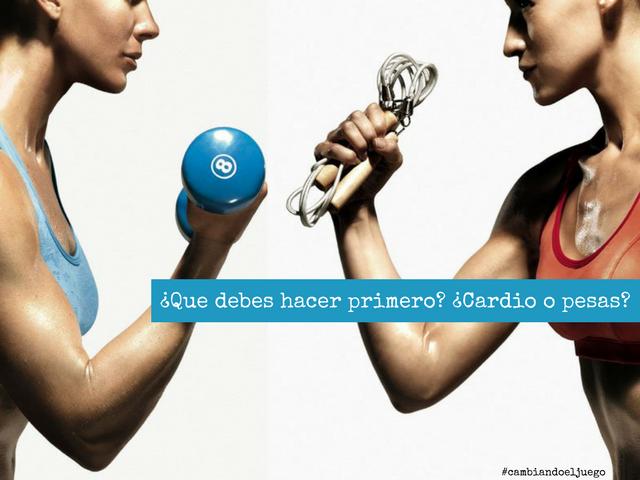 Que debes hacer primero Cardio o pesas