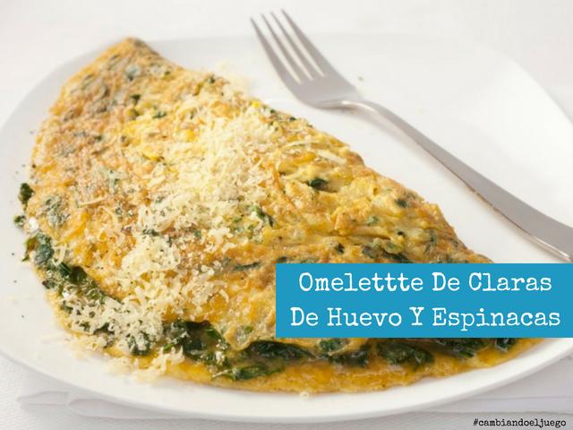 Omelettte De Claras De Huevo Y Espinacas