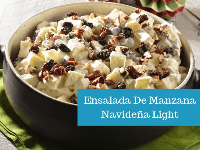 Ensalada De Manzana Navideña Light