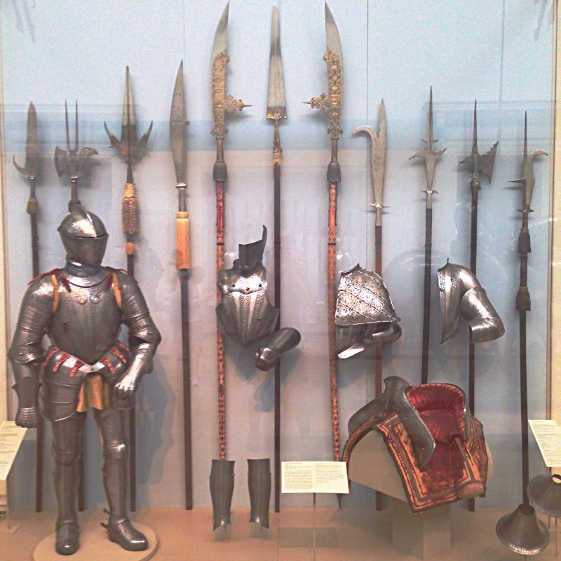 Pole arms and armor from the Arms and Armor exhibit