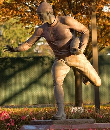 The First Football Game Monumentat High Point Solutions Stadium (photo from Rutgers University website)
