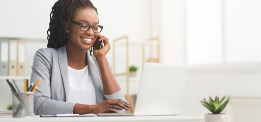female customer service agent on a call