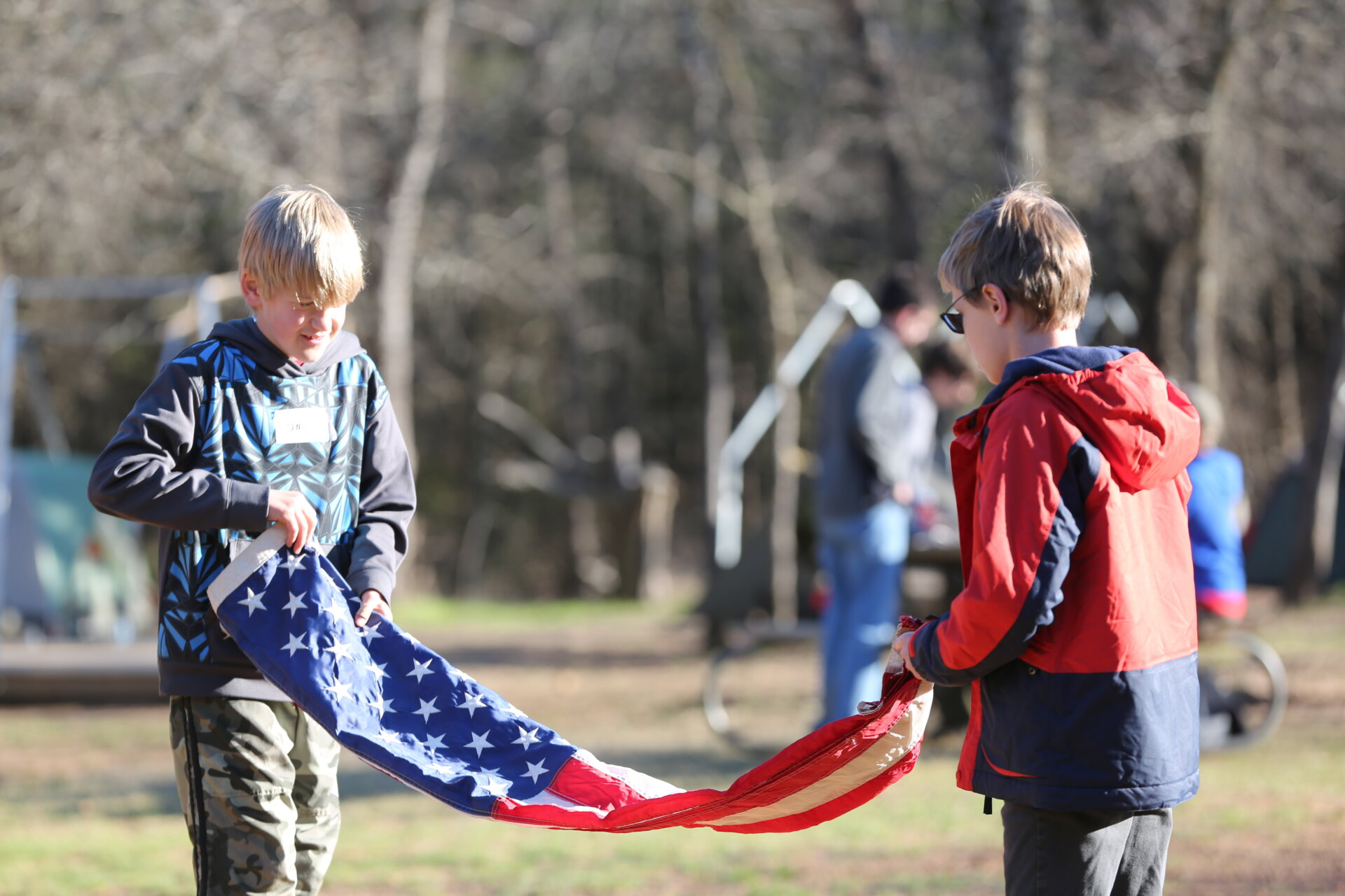 Raising the Flag at a Campout