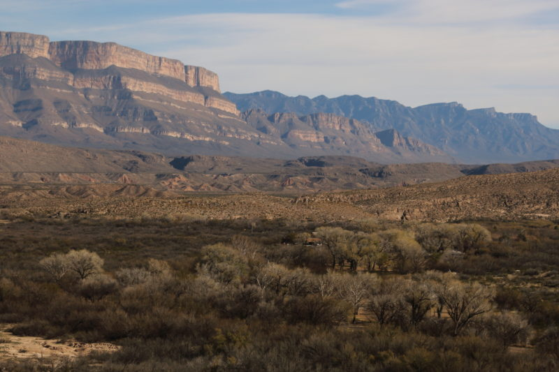 Big Bend National Park - Sierra Del Carmen over Rio Grande Village
