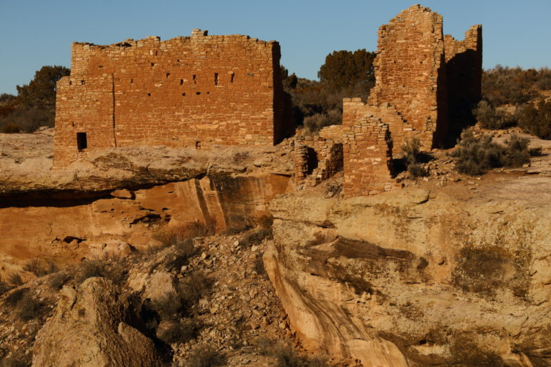 The ruins of Hovenweep Castle at the edge of Little Ruin Canyon