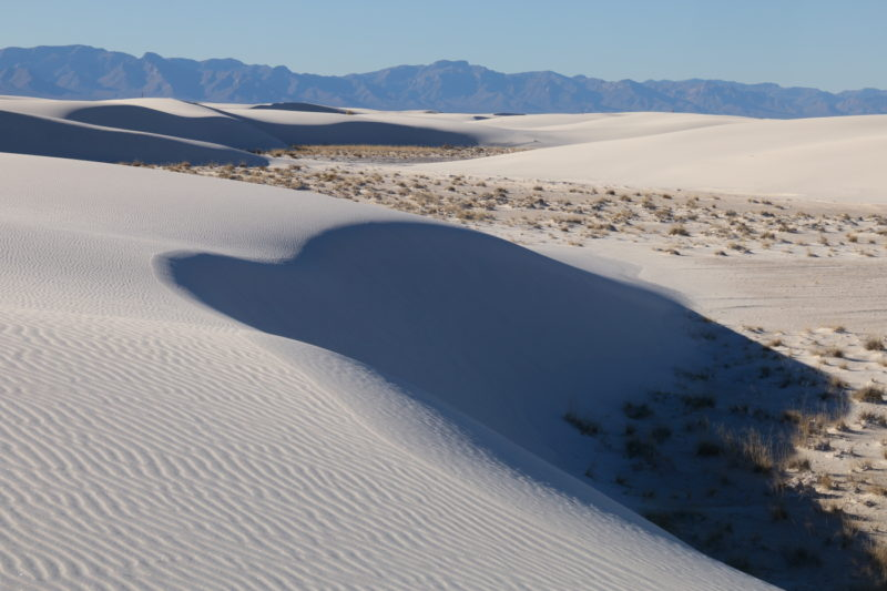 White sand dunes in White Sands National Monument
