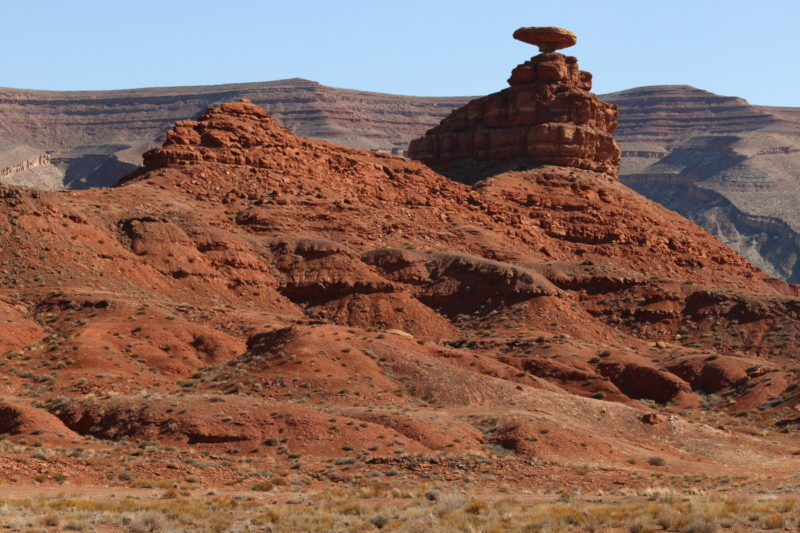 Rock formation outside of Mexican Hat, Utah.