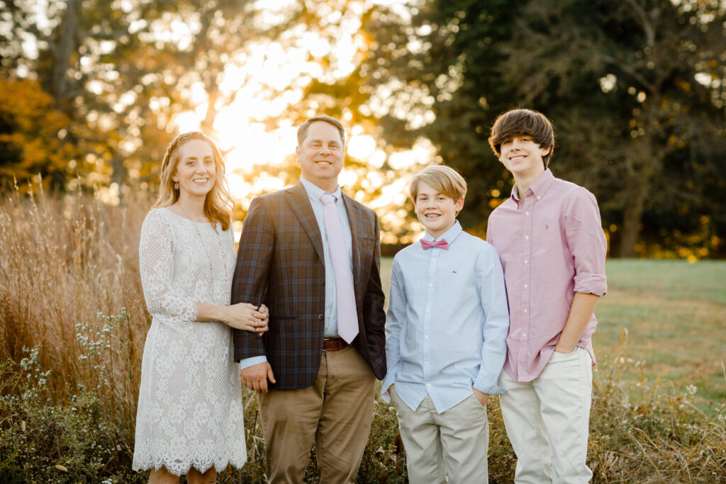 Left to Right: Lindsay (me), Andrew (husband), and my two boys Gabe and Gavin Deibler
