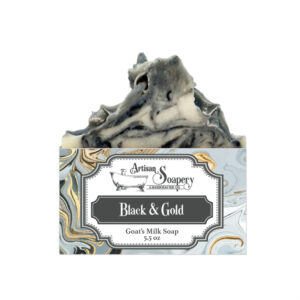 Black & Gold Goat's Milk Soap