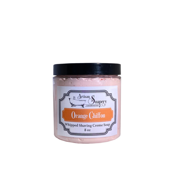 Orange Chiffon Whipped Shaving Creme Soap