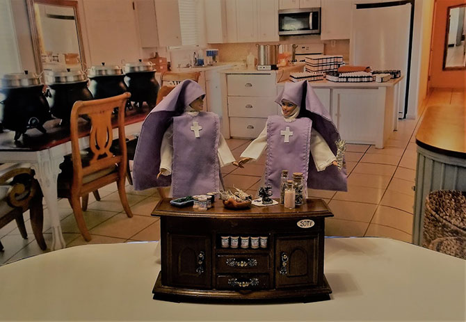 dolls dressed as nuns