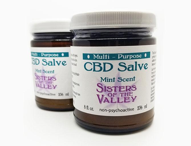 CBD Salve in Dark Bottles