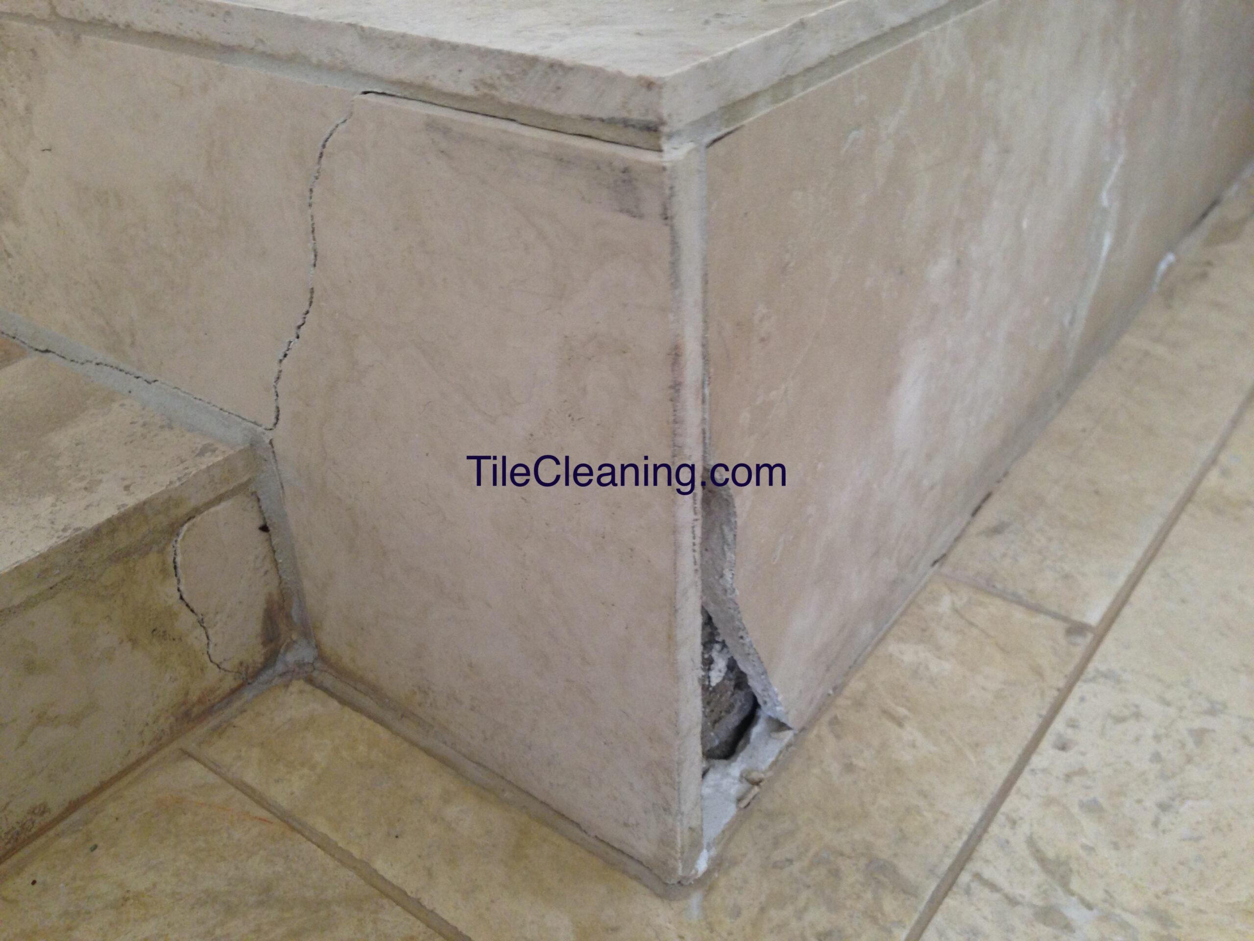 Tile Crack Before Repair