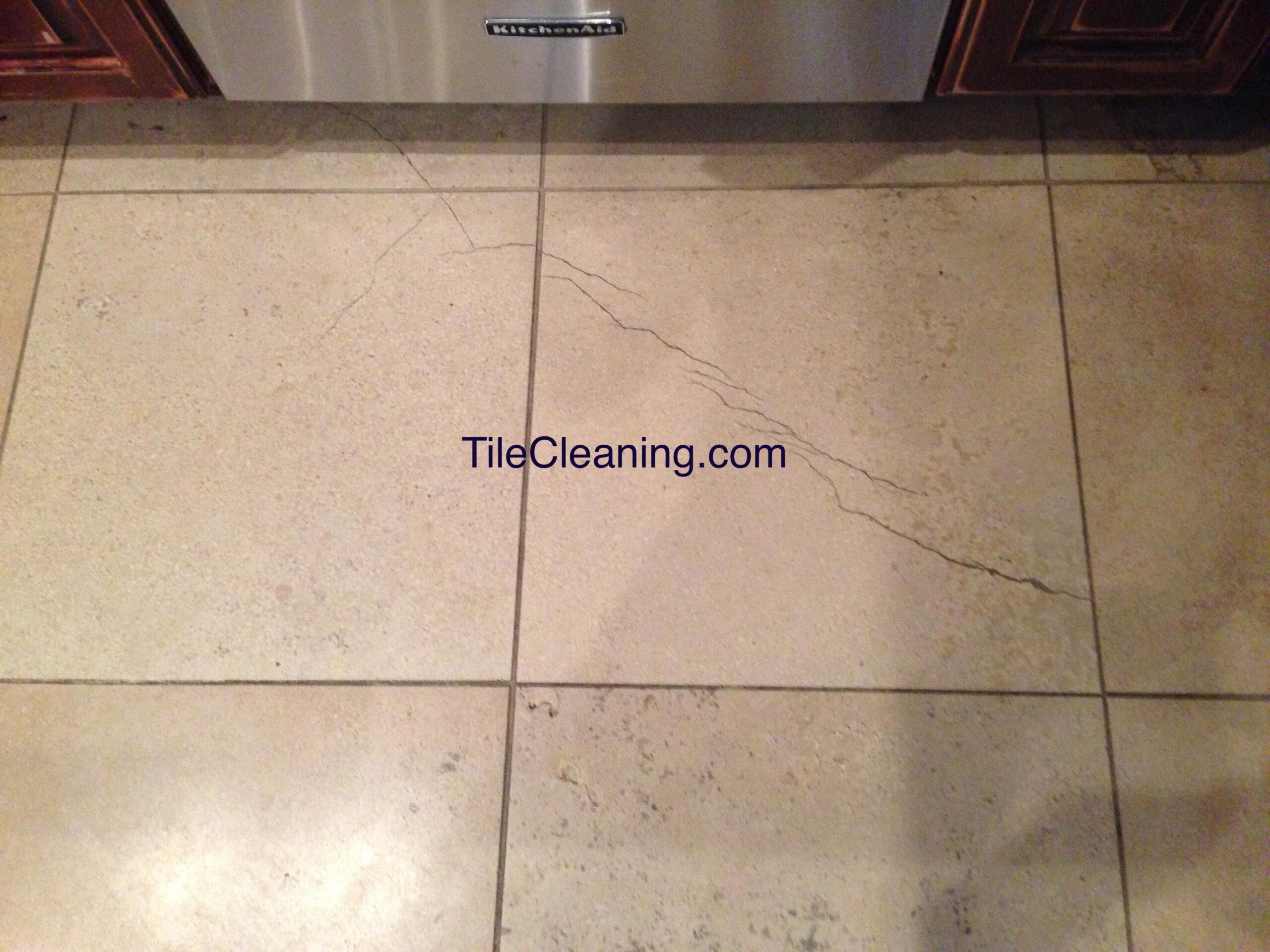 Tile Crack Before Repairs