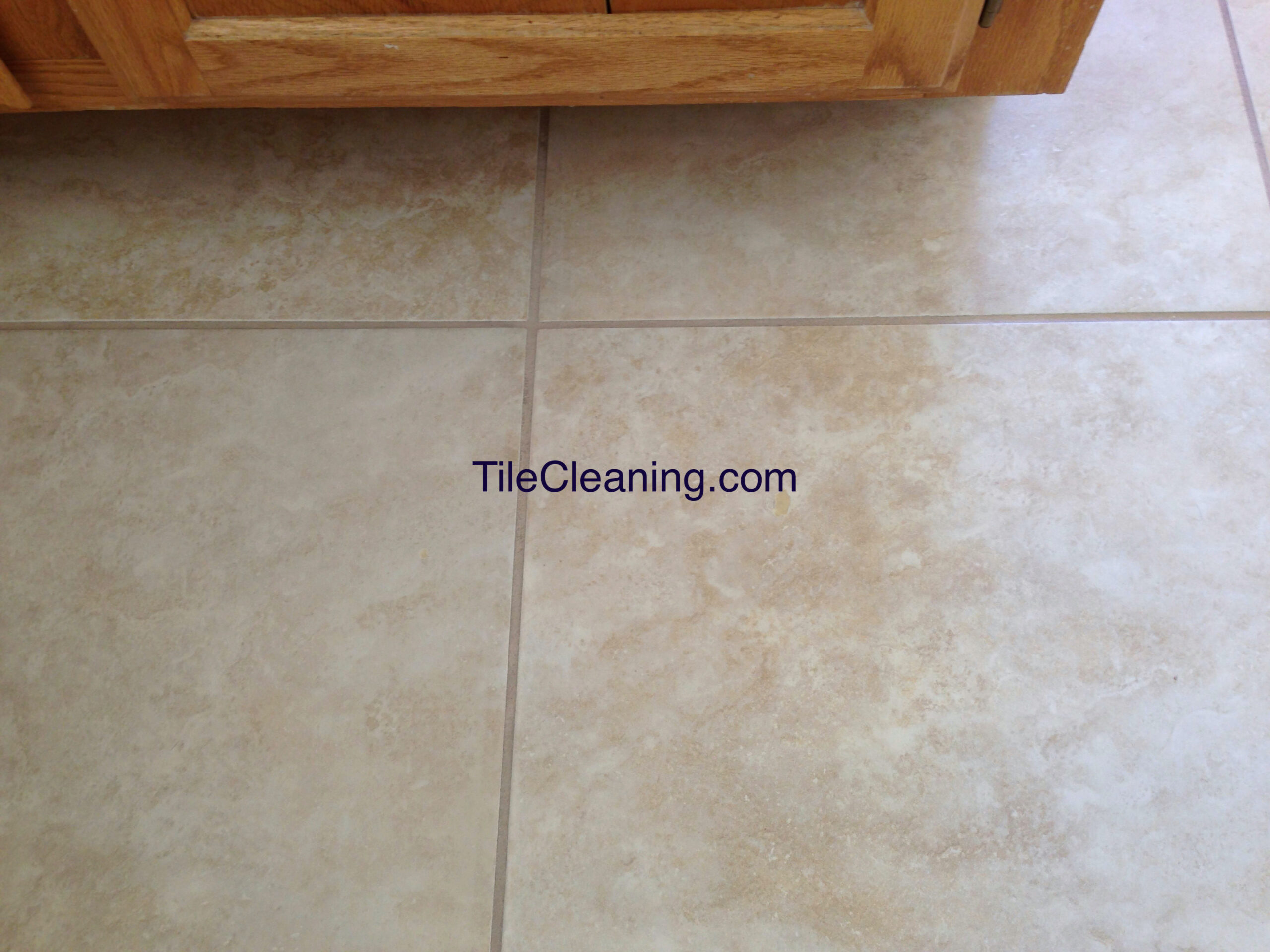 Tile Hole After Repair