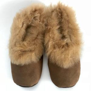 Chocolate brown Alpaca Fur slippers