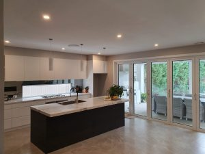 The kitchen space at our custom Home Rosebridge