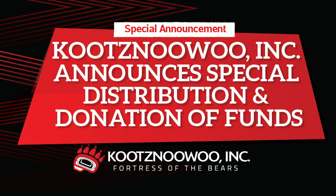 KOOTZNOOWOO, INC. ANNOUNCES SPECIAL DISTRIBUTION & DONATION OF FUNDS