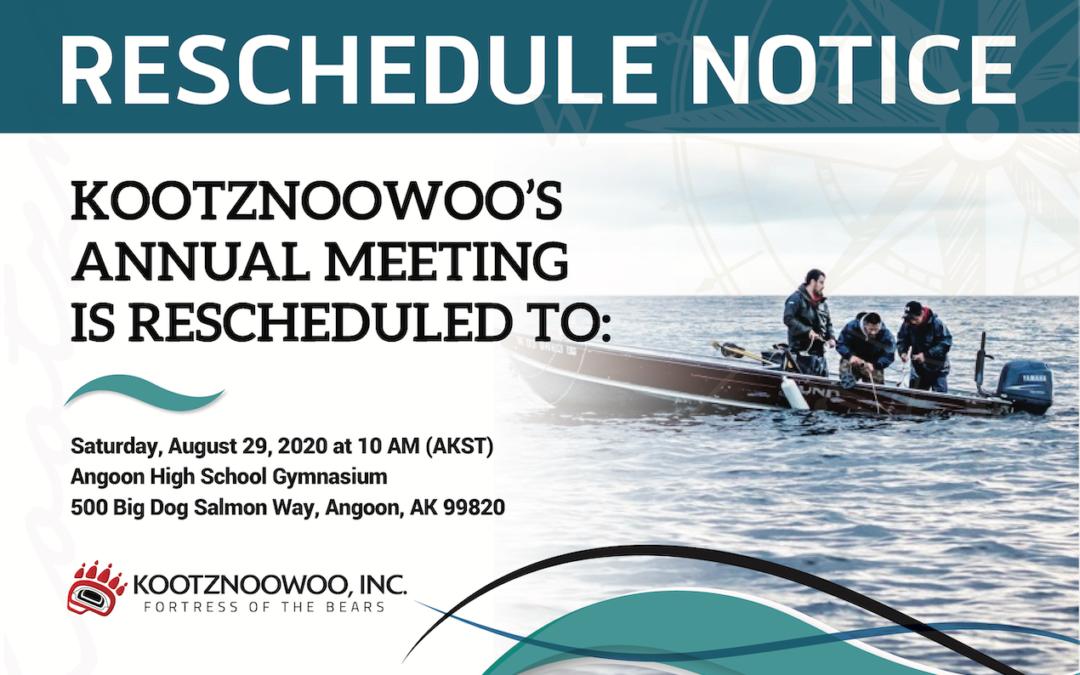 Reschedule Notice of Annual Meeting
